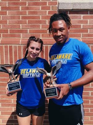 The Smyrna High School 2019-20 Athletes of the Year were Lexi Moore and Darryl Williams who are continuing their athletic careers at the University of Delaware.