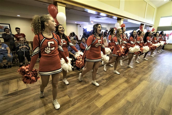 In years past, the pre-Bell Game celebration always included a stop at Brookdale El Camino assisted living home, where cheer and dance teams from Centennial and Central high schools entertained the residents.