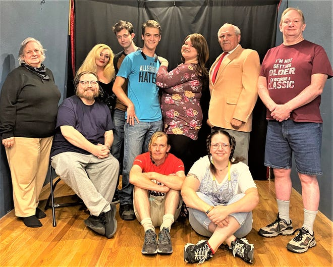 """The Theater of Mystery Players, now starring in """"Vampire Detective Agency,"""" written by local author Louis DeGrado."""