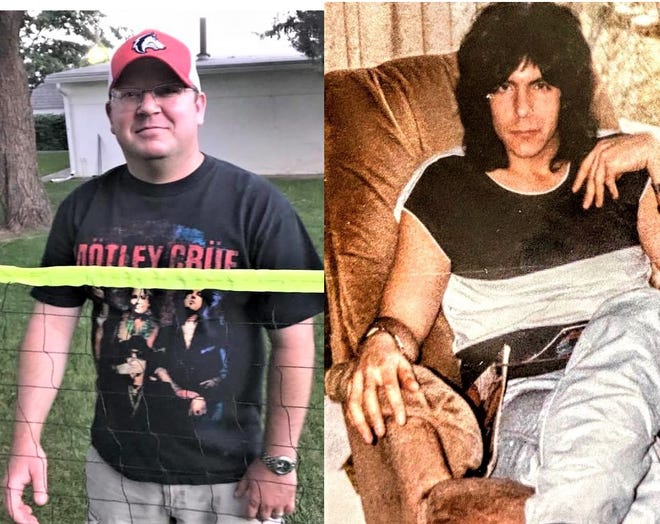 Guest columnist Matt Centner, left, in the present, and the writer in his criminally short heavy-metal heyday.