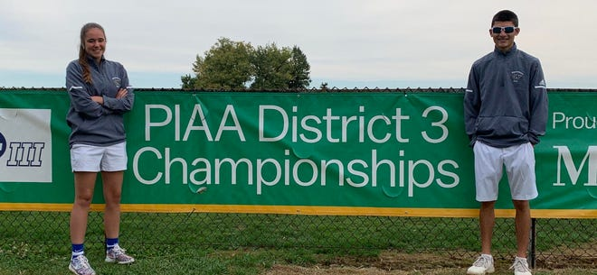 Waynesboro Area Senior High School golfers Devin Smith and Ella Lowry competed at the PIAA District 3 Class AAA tournament at Briarwood Golf Club in York Oct. 9 and 10.