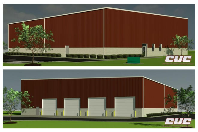 This is a rendering of the new, single-story services building for Fairfield Township
