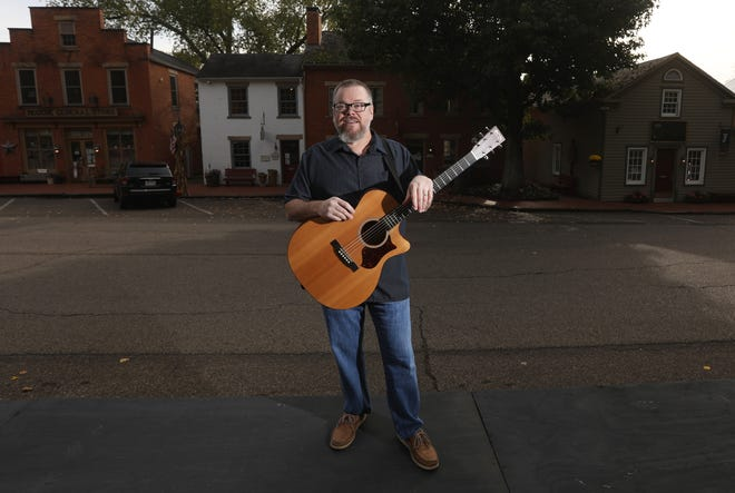 In addition to running Good Boy Baker with his wife Cathy, Brad Fuller plays acoustic guitar and sings around the region. He also plays in a band known as Roscoe Transit Authority.