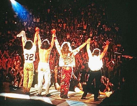 David Bertinelli took this photo of Van Halen from his unique backstage vantage point during a 1984 concert. From left: Eddie Van Halen, Alex Van Halen, David Lee Roth and Michael Anthony.