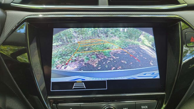 Like all new cars, the 2021 Chevy Trailblazer has a backup camera - though the Trailblazer's resolution pales compared to other vehicles.