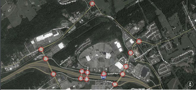 Hillwood Enterprises will study 14 intersections surrounding the former Knoxville Center Mall site, where it has proposed to build an e-commerce fulfillment center for an unnamed tenant.