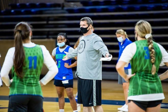FGCU women's basketball coach Karl Smesko, who is in his 19th season, must rebuild the Eagles after losing the top seven scorers from last season.