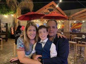 Jessica Peranteau, her husband, Dave Peranteau, and their son, Noah, who's 11.