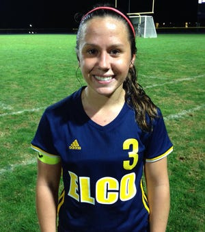 KK Rueppel's goal in the closing minutes propelled Elco to a 1-0 win vs. Cocalico Tuesday night.
