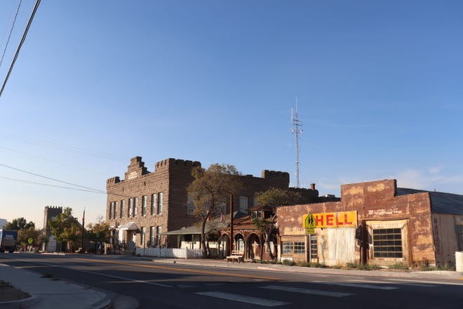 The courthouse in Goldfield, Nevada.