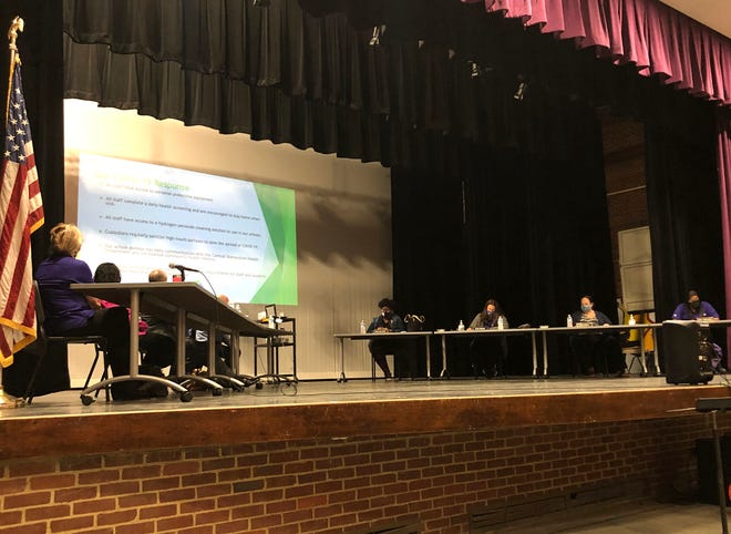 The Waynesboro School Board discussed school reopening plans at its meeting Tuesday, Oct. 13.