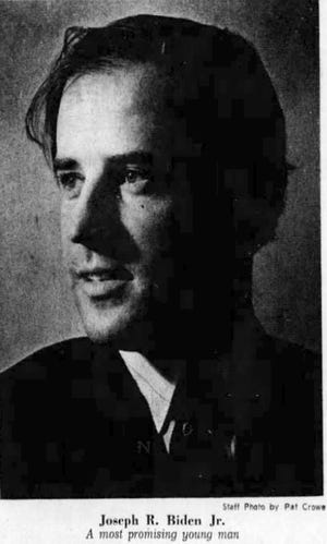 A photo of a young Joe Biden that ran in a 1970 Evening Journal article about his political future.
