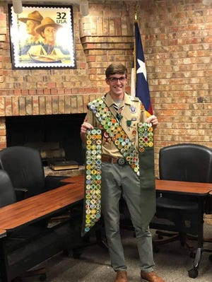 Braiden Eccleston became the first Eagle Scout in the Northwest Texas Council history to earn every merit badge.