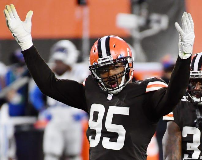Browns defensive end Myles Garrett.