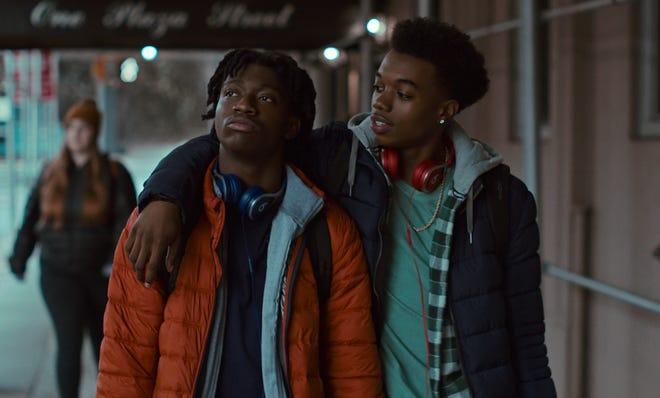 "Jaden Jordan as Owen Williams and Maliq Johnson as Jayson Jackson in ""Grand Army."""