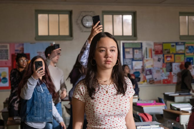 "Amalia Yoo as Leila Zimmer in ""Grand Army."""