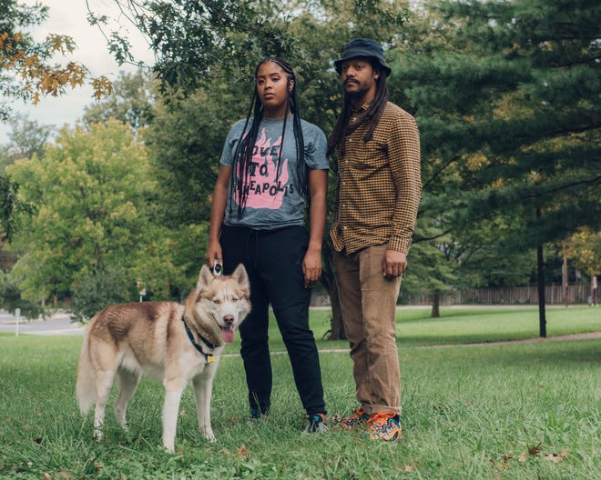Ayanna Brooks and her boyfriend, Joseph Burroughs, were walking her dog in their Washington, D.C., neighborhood when a dog from a Maryland K-9 unit bit her.  (Photo by Jared Soares for The Marshall Project )