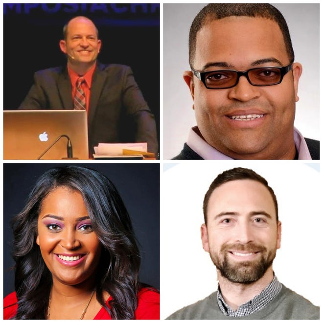 The panelists who will discuss Christianity and racism on Monday evening at Ashland University are Cory Miller, Cary Dabney, Terri Link and Kyle Miller.