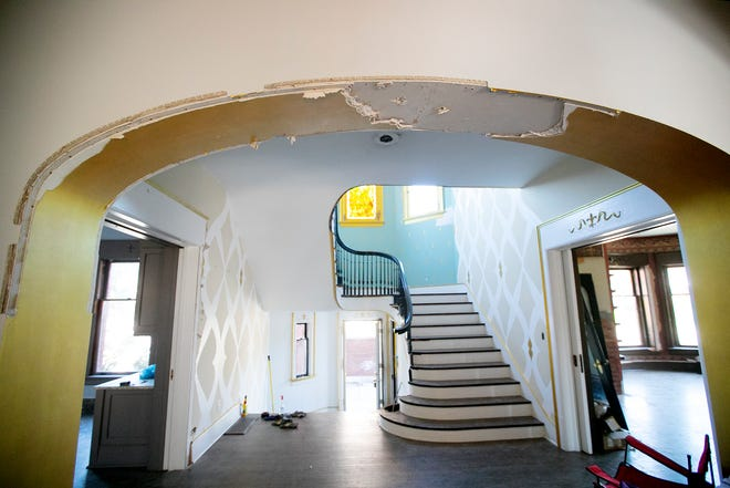 The new owners of the Circus House in Victorian Village have started repairing severe damage to the home.