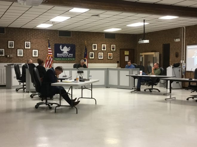 Members of the Randolph County Board of Education discuss COVID-19 concerns.