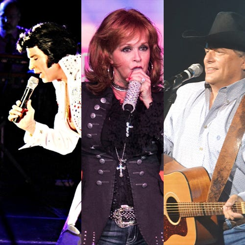 A tribute to a trio of legendary performers Elvis Presley, Reba McEntire and George Strait will have four shows at Ohio Star Theater.