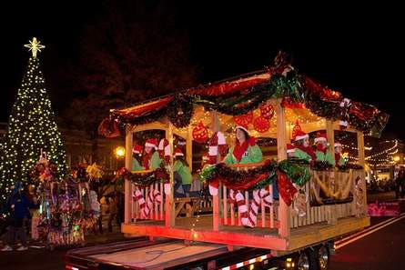 Pictured is a float entry in a previous Uptown Lexington Christmas parade. The Uptown Lexington Inc. Board of Directors announced the 2020 Christmas parade has been canceled,