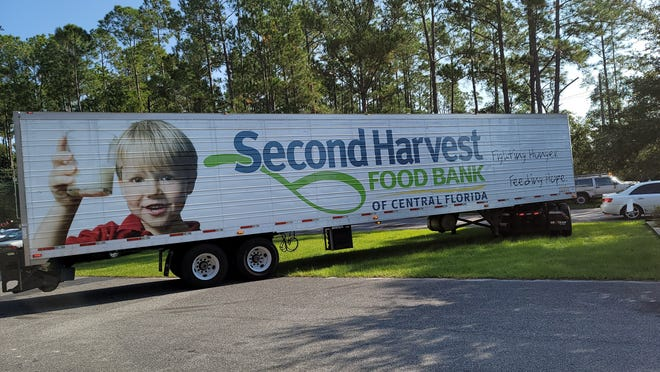 The Second Harvest truck heads back to Orlando after making its drop at Pierson.