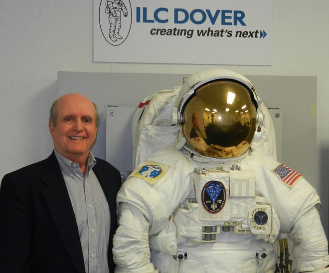 Author Bill Ayrey, retired ILC Dover employee, wrote a book detailing the history of the Frederica-based company and its involvement in designing and creating the Apollo space suit.