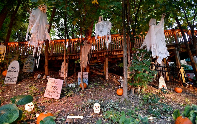 A section of the Erie Zoo is transformed into a haunted cemetery during an earlier ZooBoo. FILE PHOTO/ERIE TIMES-NEWS