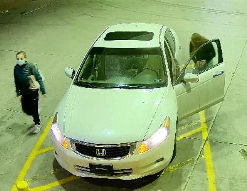 Police in Millcreek Township and Union City are attempting to identify two females who were seen in a white Honda Accord in their investigations into burglaries at two vape stores on Sept. 12.