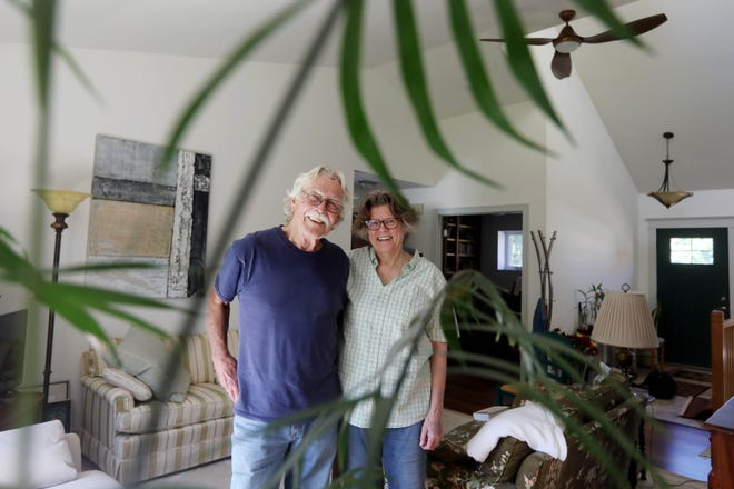 Steve and Mary Hoyer are shown Oct. 7, 2020, in their Salem home. The house has been named the most energy-efficient home built in Iowa in 2020 by the Home Energy Rating System.