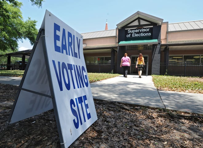 Early voting begins Monday, Oct. 19, at 20 sites across Duval County, including the Supervisor of Elections Main Office on East Monroe Street.