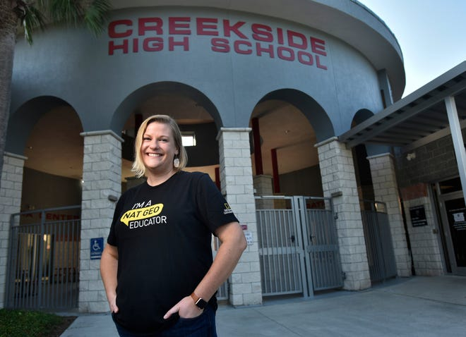 Ali Pressel, an environmental science teacher at Creekside High School in St. Johns County, was recently named a National Geographic Emerging Explorer, only the second educator to be given the award.