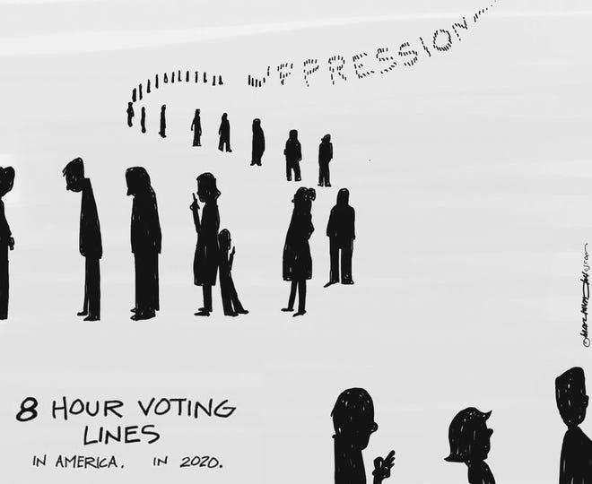 An editorial cartoon by Marc Murphy