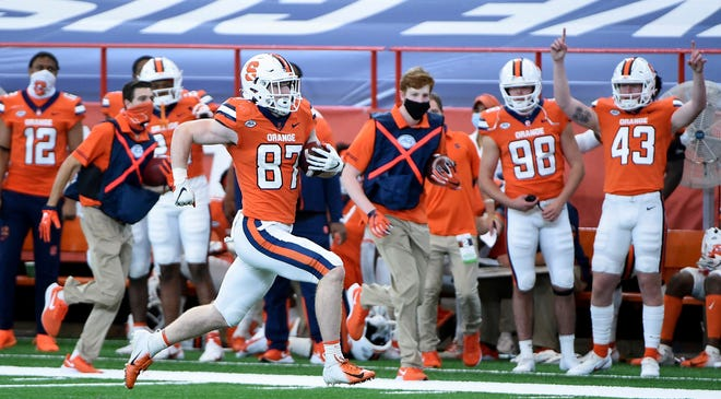 Syracuse is set to play its lone nonconference game of the season and looking for a reversal of fortune after last week's 38-24 loss to previously winless Duke. Syracuse tight end Luke Benson had a touchdown in the game.