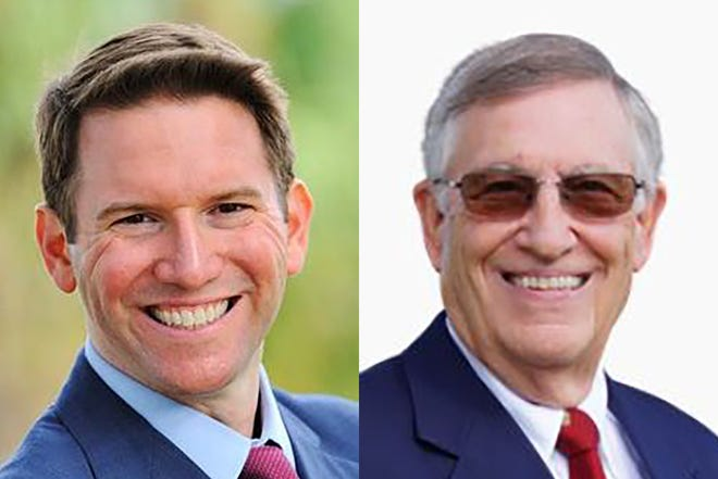 Incumbent state Rep. David Silvers (left), D-Lake Clarke Shores, is facing Republican Herbert Sennett (right) in the State House 87 seat election on Tuesday, Nov. 3, 2020.