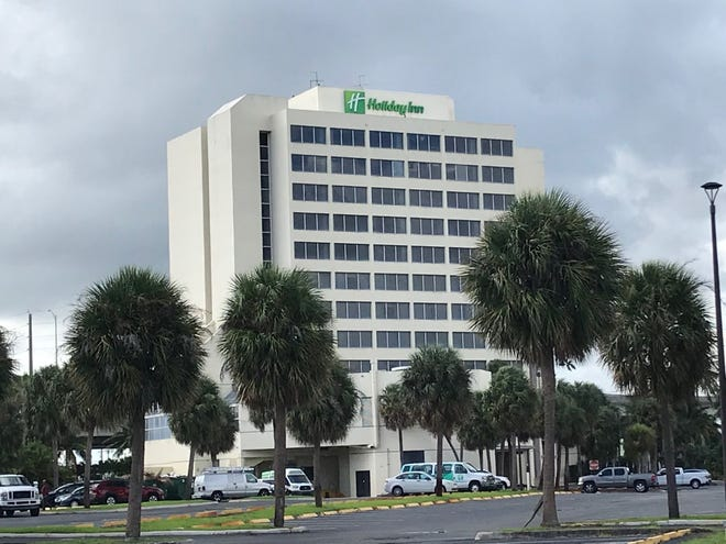 A new Holiday Inn is proposed to rise next to this one, at 1301 Belvedere Road, which will be rebranded.