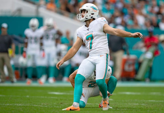 Dolphins kicker Jason Sanders, the reigning AFC special teams player of the week, is coming off back-to-back games in which he went five-for-five on field-goal attempts.