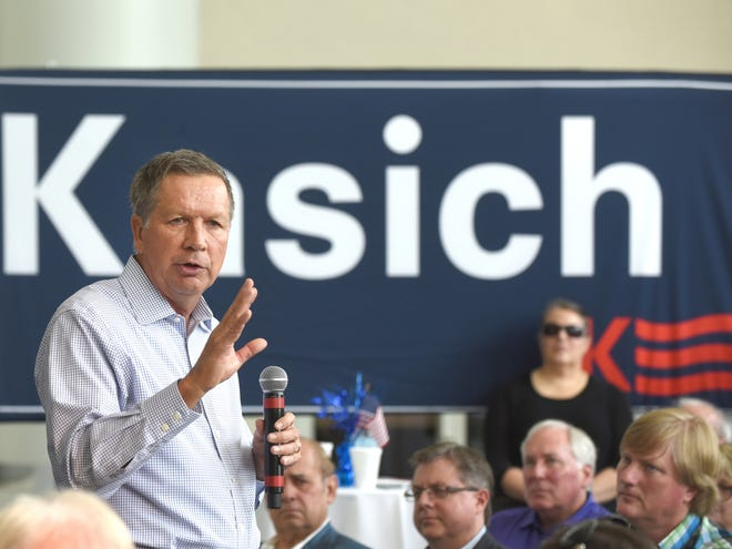 Former Ohio Gov. and GOP presidential hopeful John Kasich is one of a growing number of prominent Republicans backing former Vice President Joe Biden for president.  [Max Ortiz/The Detroit News via AP]