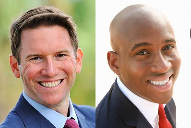 Florida state Rep. David Silvers (left) and Omary Hardy (right)