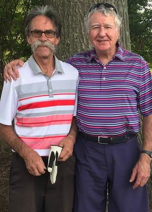 Ernie Golf League Champions, David Hansford (left) and Mark Yankovich.