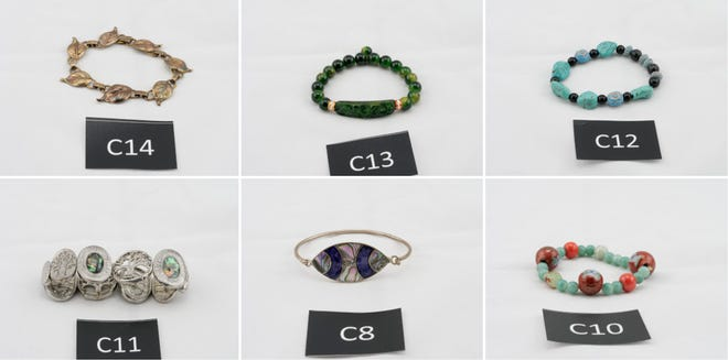 Junction City police are seeking help identifying pieces of stolen jewelry. Photos of the jewelry can be viewed online at tinyurl.com/junctioncityjewelry.