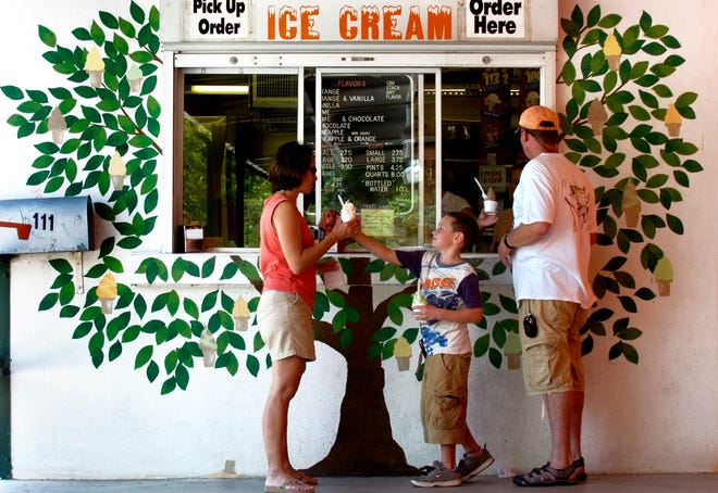Nokomis Groves popular ice cream stand remains open daily from 11 a.m. to 6 p.m. except on major holidays.