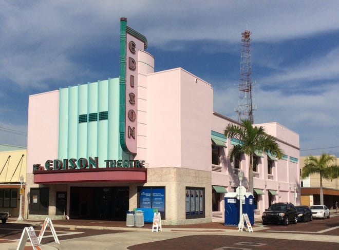 No. 56: Edison Theater, c. 1939, Fort Myers. Architect unknown. Staff photo / Harold Bubil; 1-10-2015.