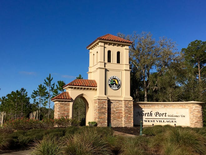 Ornate structures such as the one that marks the entrance to North Port's West Villages off of River Road are among the amenities city officials requested as part of negotiations with the developer of the former Thomas Ranch property.