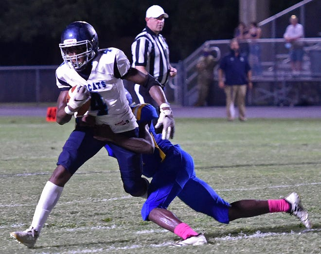 North Port High's football team will hit the road tonight looking to extend its winning streak to three games on the artificial turf at Bishop Verot High in Fort Myers.