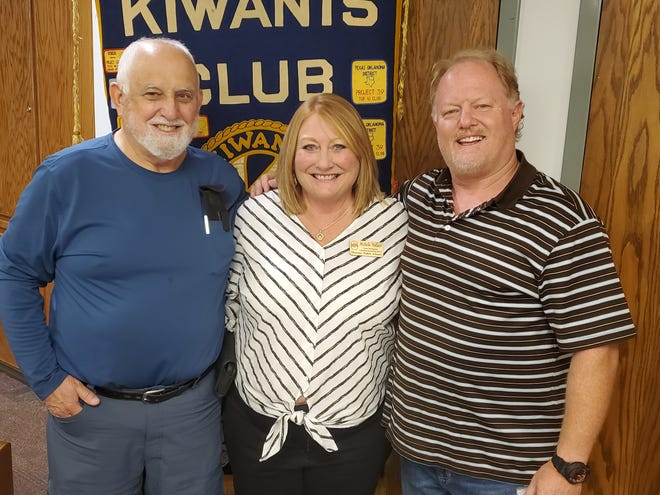 Special Kiwanis Club guest Michelle Wallace from Shawnee Public Schools shared the challenges with virtual learning.