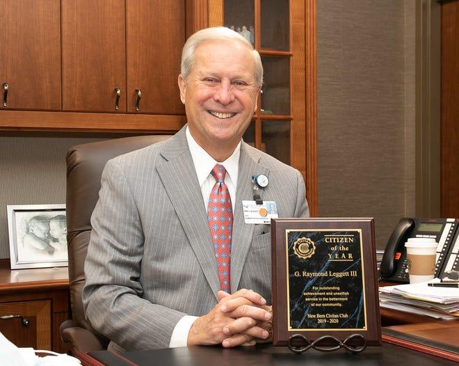 Ray Leggett is the recipient of the New Bern Civitan Club's Citizen of the Year. [Bill Hand / sun Journal Staff]