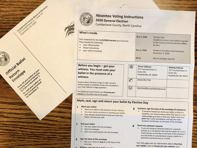 Many North Carolina residents used mail-in ballots to vote in the 2020 general election.