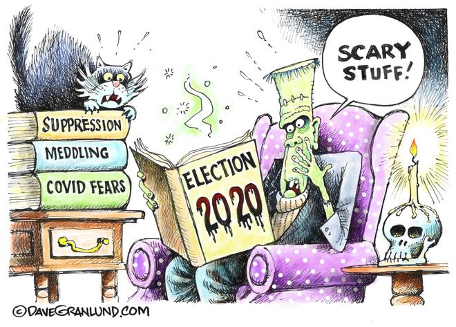 Scary thoughts as election day approaches. By Dave Granlund.